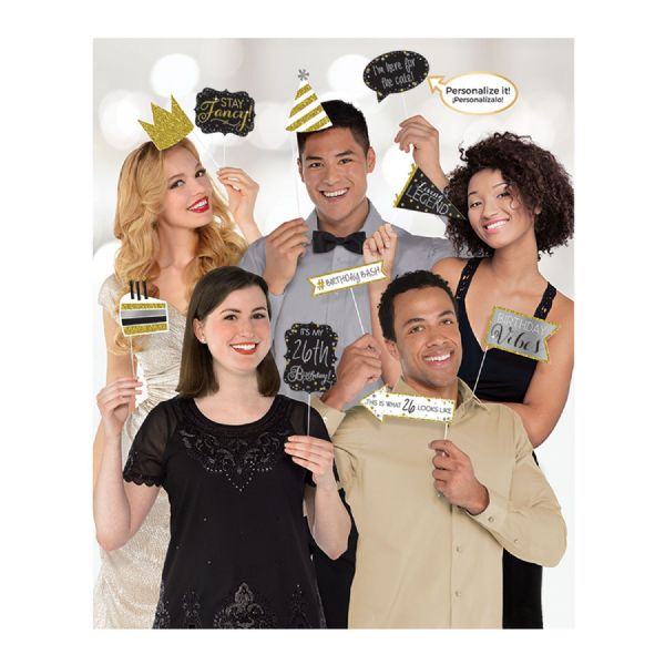 Gold Sparkling Celebration Photo Props